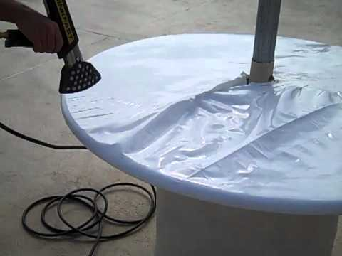 Finishing Shrink Wrapping tables at the Matador Oceanfront Resort, North Wildwood, NJ.MP4