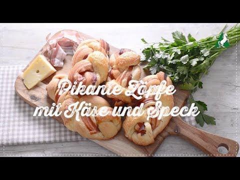 Pikante Zöpfe mit Käse und Speck Rösselmehl Backvideo