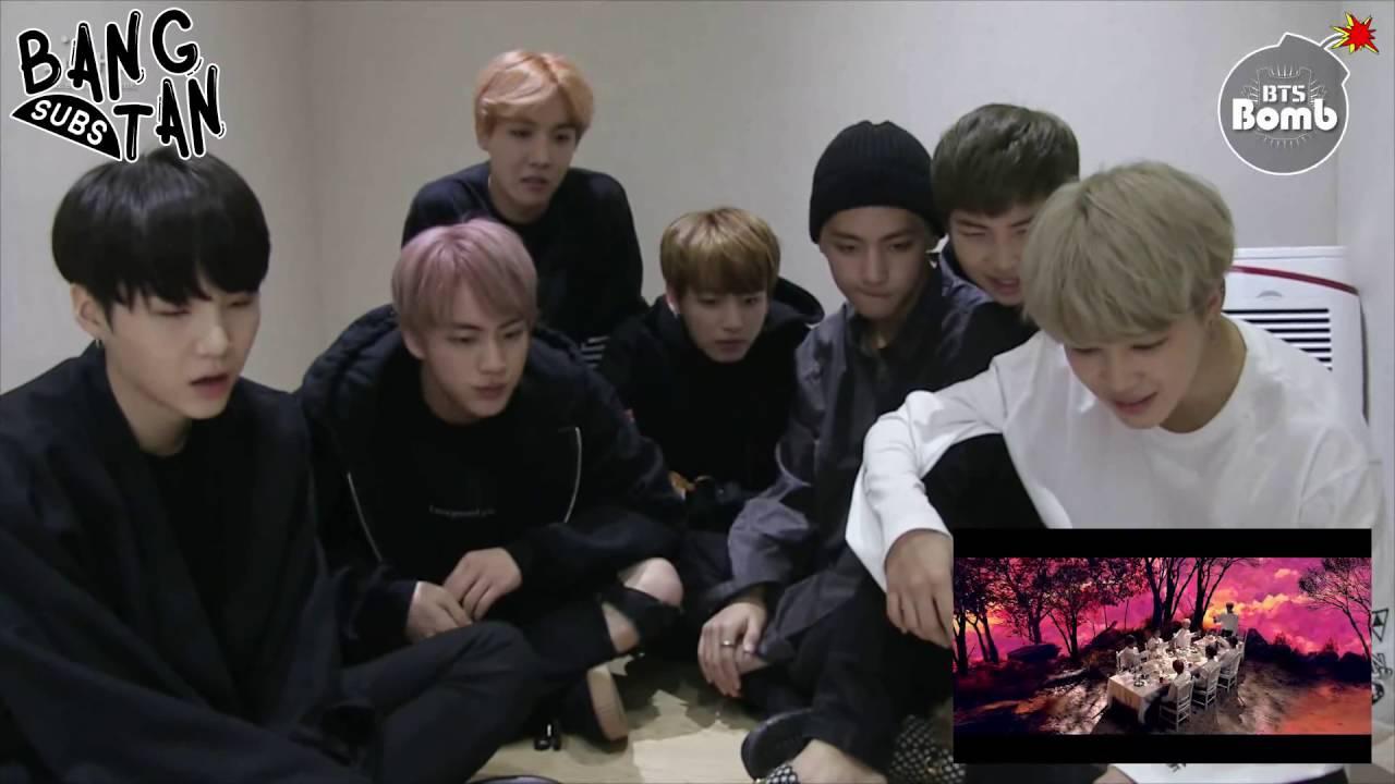 [ENG] 161012 [BANGTAN BOMB] 'Blood Sweat & Tears' MV Reaction by BTS