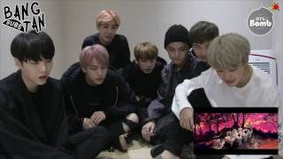 eng 161012 bangtan bomb blood sweat tears mv reaction by bts