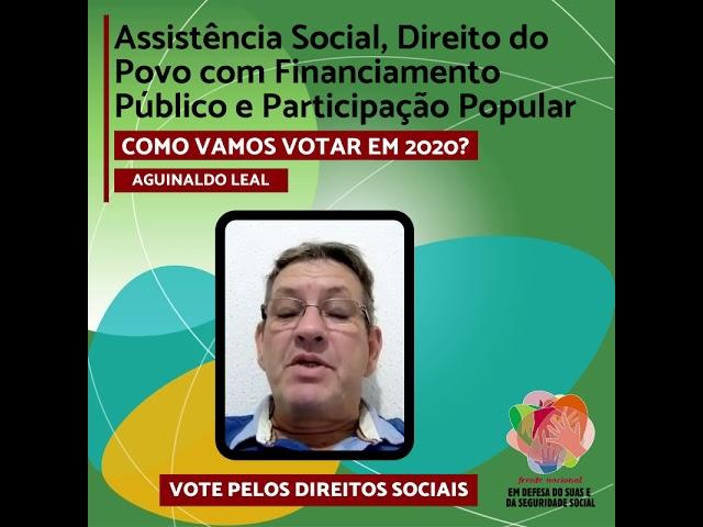 Vote pelos Direitos Sociais - AGUINALDO LEAL
