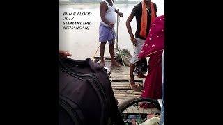 Bihar Flood August 2017, River Crossing by boats, Dangerous Scene