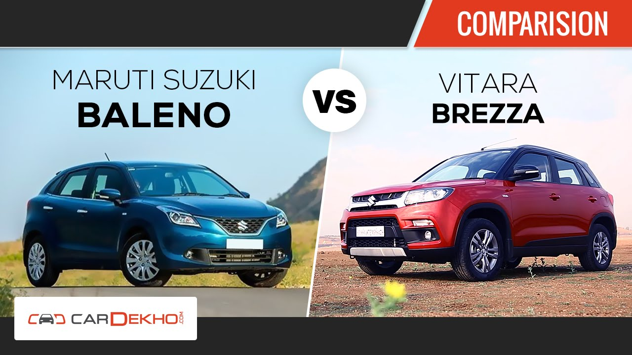 Maruti Vitara Brezza Vs Maruti Baleno Comparison Review Youtube