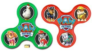 Paw Patrol FIDGET SPINNERS DIY - Make Your Own Spinning Wheel Game for Kids