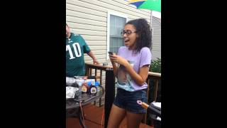 GIRL RAPS TO DAD *GETS EMOTIONAL*