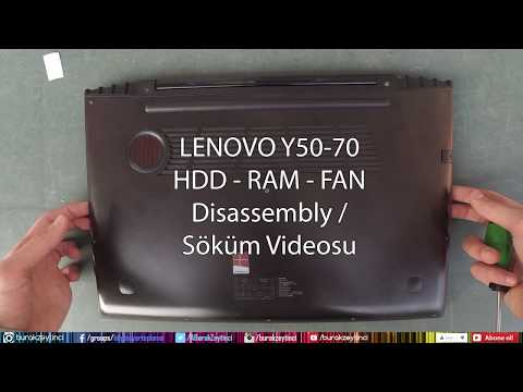 Lenovo Y50-70 Disassembly And Assembly (HDD SSD RAM FAN)