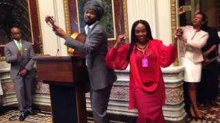 Emeline Michel & Dener Ceide at White House Caribbean Heritage Celebration