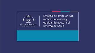 Entregan ambulancias, motos, uniformes y equipamiento para el sistema de Salud