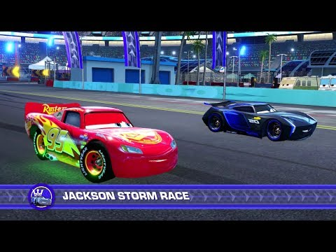 Thumbnail: Cars 3: Driven to Win (PS4) Gameplay - Lightning McQueen vs. Jackson Storm (Hard Mode)