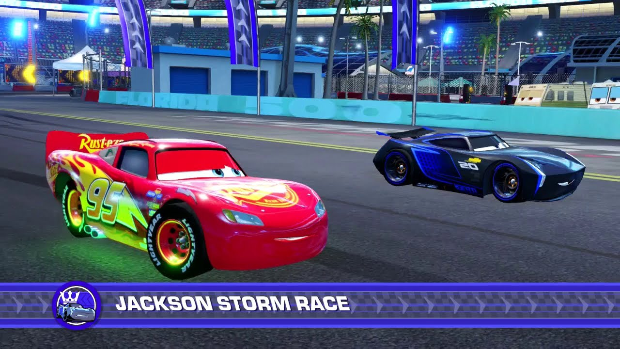 Cars 3 Driven To Win Ps4 Gameplay Lightning Mcqueen Vs Jackson Storm Hard Mode Youtube