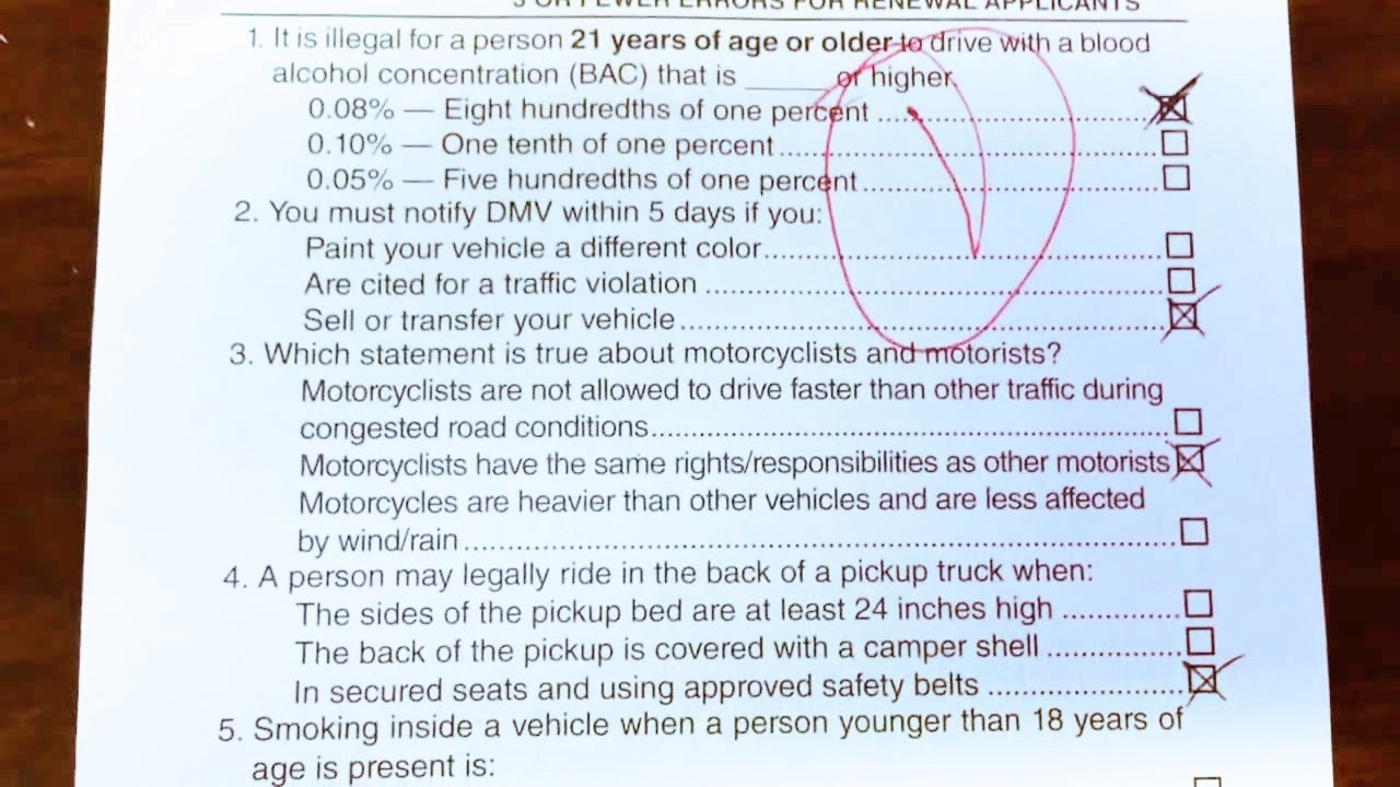 Florida Driving Test Questions