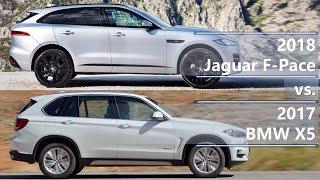 2018 jaguar f-pace vs 2017 bmw x5 (technical comparison)