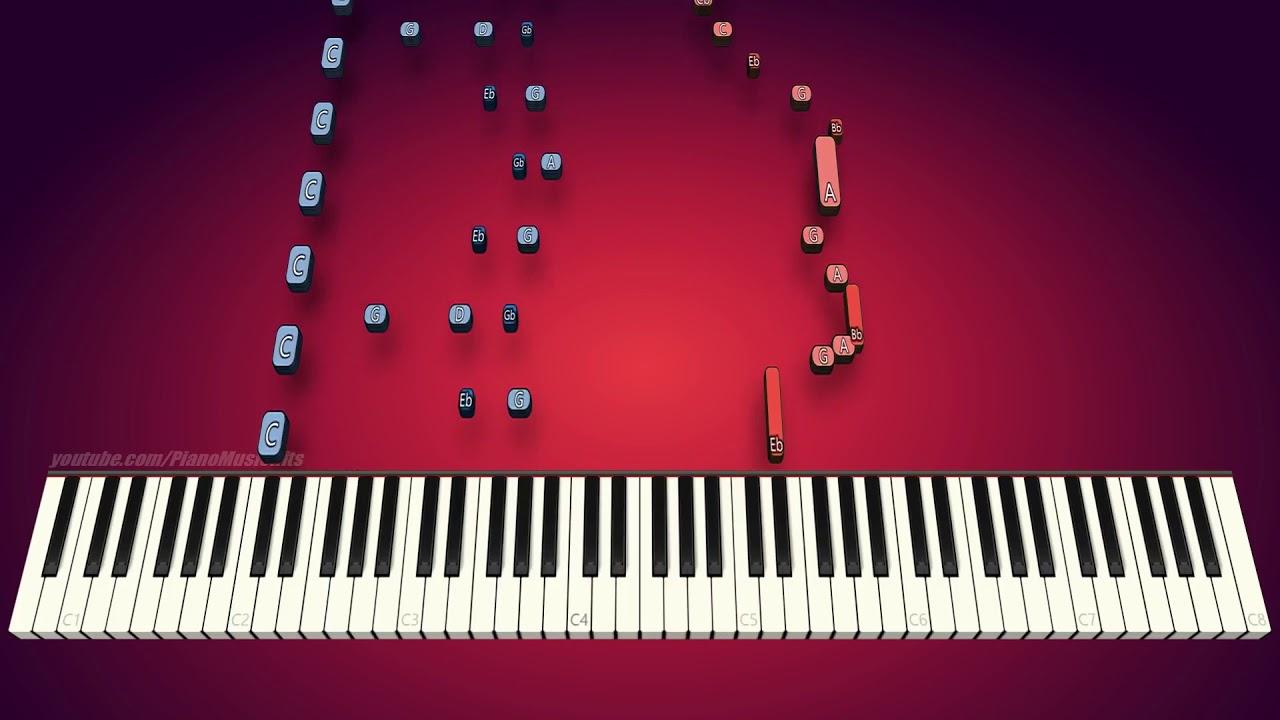 Undertale - Bonetrousle Nyeh Heh Heh! (piano cover & tutorial)