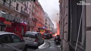 Paris bakery 'gas explosion' kills two firefighters