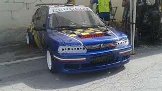 PEUGEOT 106 PROTO W/ 200 HP Yamaha Engine - Pure SOUND, Revs & Track!
