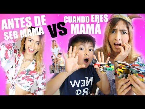 CUANDO ERES MADRE vs \u200d ANTES DE SER MADRE ( parodia con mis hijos )