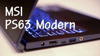 MSI PS63 Modern | 랩탑 경쟁의 핫스팟 15인치에서 출사표를 던지다 @CES2019