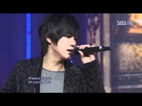 Oh Won bin - I Love You I Love You @ SBS Inkigayo 인기가요 101128