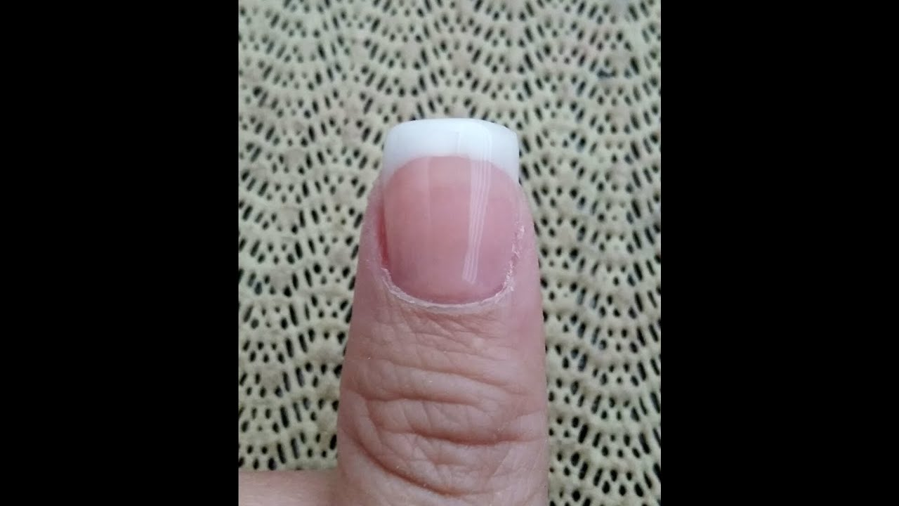 DIY: Classic Pink and White Acrylic Nails - YouTube
