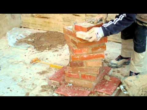 Cómo construir  una columna Salomónica con ladrillo cara vista Video nº 70