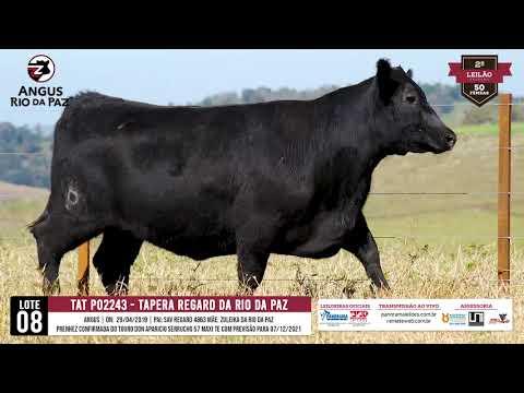 LOTE 08 PO2243 TAPERA REGARD DA RIO DA PAZ - Prod. Agência e Tv El Campo