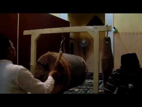 Bedug Takbir Idul Fitri 1437H - Teknik Tabuh bedug Gandusari