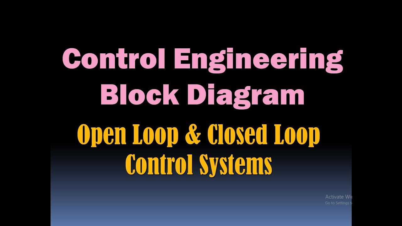 control engineering block diagram open loop and closed loop control system hd  [ 1280 x 720 Pixel ]