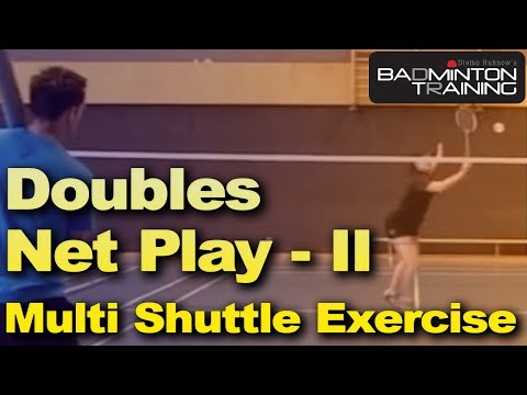 Badminton Training: Badminton Ballmaschine Doppel Netz links ...
