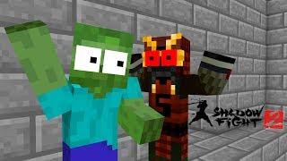 Monster School : SHADOW FIGHT CHALLENGE - Minecraft Animation