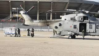 Trasferimento di un paziente dal Cardarelli alla capitale con l'elicottero dell'Aeronautica militare