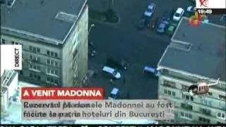 Madonna a ajuns in Romania