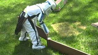 Clone Trooper Builds A Garden (in 2 Minutes, While Wearing An Old West Holster And Six Shooters)