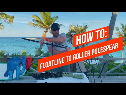 HOW TO Connect A Floatline To A Headhunter Spearfishing Roller Polespear