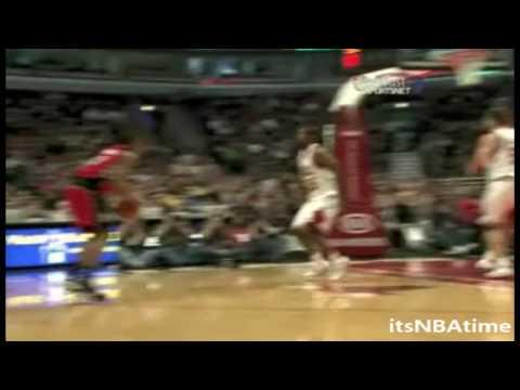 DeMar DeRozan Big Time Dunk On Brad Miller Vs Bulls Dec.5.09