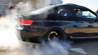 Cars Leaving Supercar Meet | Burnouts, Accelerations, Wheelspins