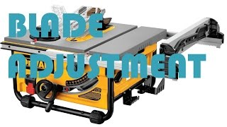 HOW TO: Dewalt Table Saw Blade Alignment