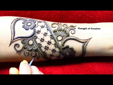 Simple Unique Bridal Mehndi Design for Hands |Thought of Creation