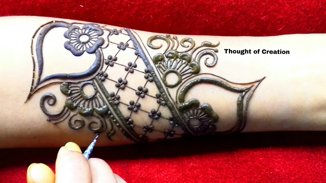 simple unique bridal mehndi design for hands thought of