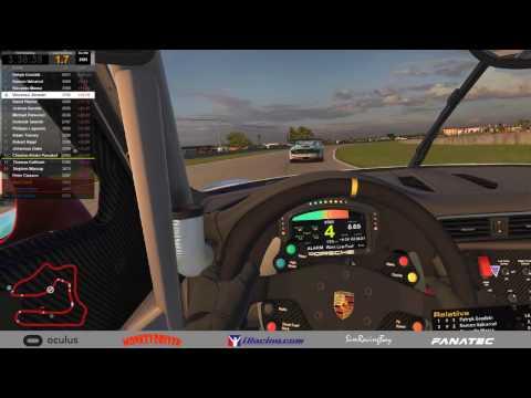 iRacing VR amazing - last 3 laps battle! Porsche GT3 cup @ Sebring