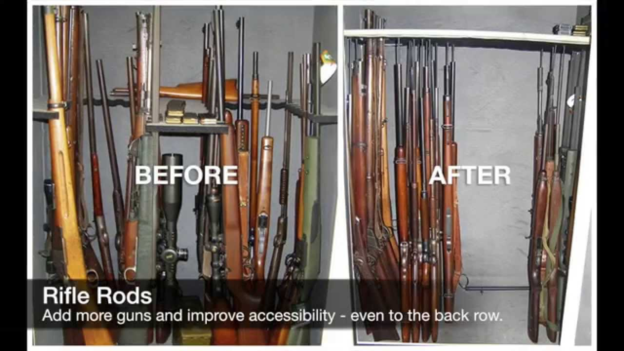 Gun Safe Before Amp After Pictures Using Rifle Rods And