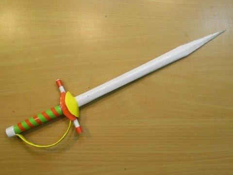 how to make a paper sword rapier mini knife easy