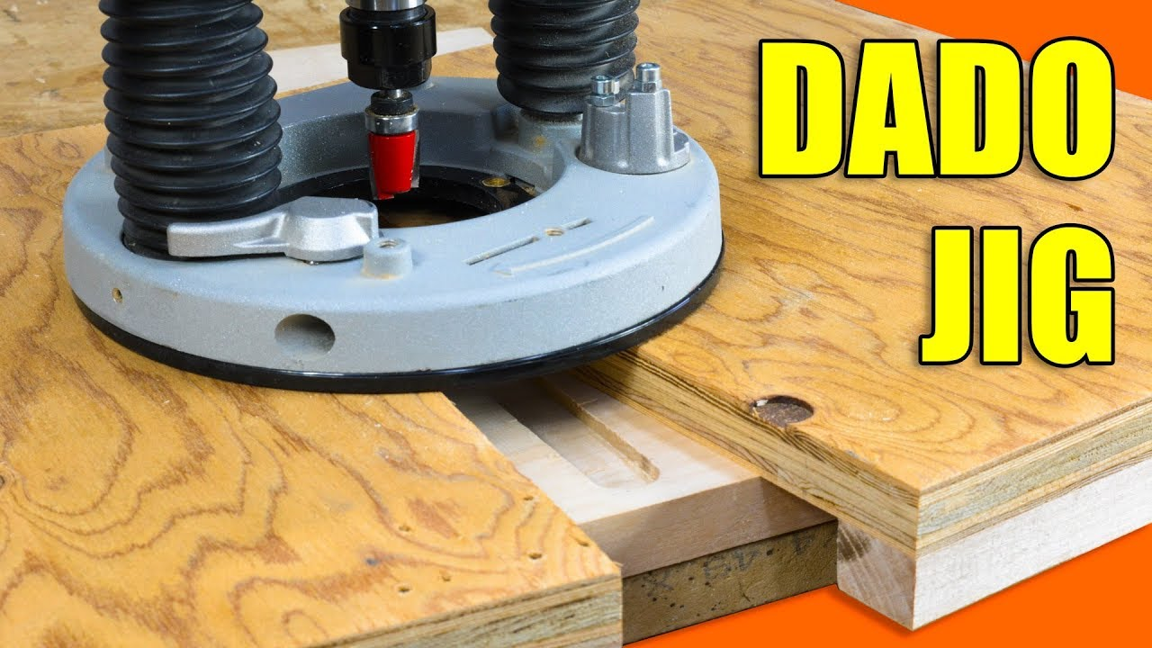A Simple Router Jig For Making Dados Easy Dado Joints