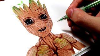 Comment dessiner Bébé Groot ? [Tutoriel]