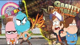 Repeat youtube video Dipper Pines VS Gumball Watterson  - World Battle Rap || Tyrone KF