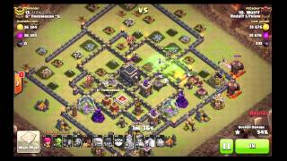 Clash Of Clans - 4 Golems ,4 Jump Spells, New 3 Stars Strategy or Luck?