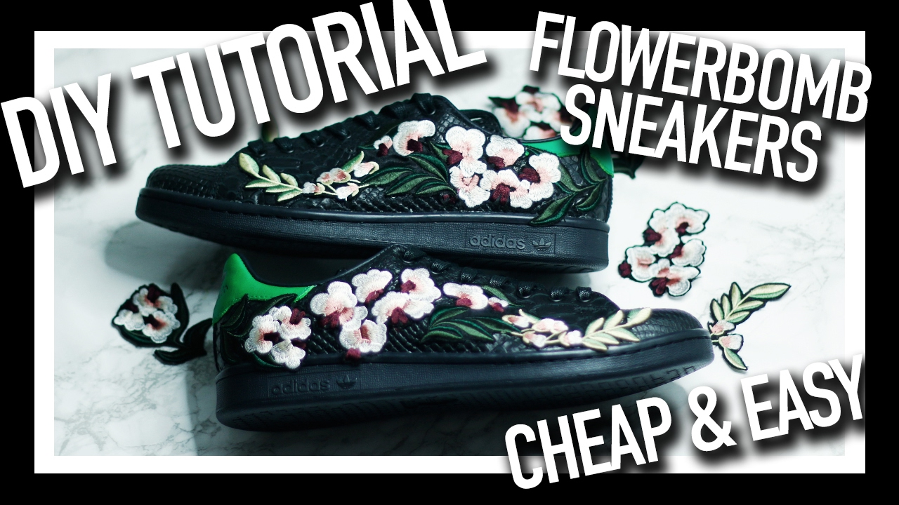 57cfcc12cdf5 Easy   Cheap D.I.Y Customised Floral Embroidery Sneakers