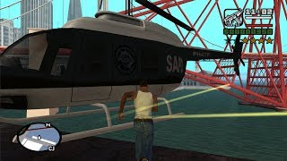 GTA San Andreas - How get the Police Maverick at the very beginning of the game