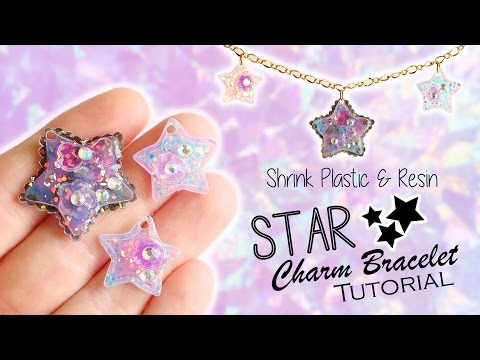 Kawaii Star Charm Bracelet│Shrink Plastic & UV Resin Tutorial