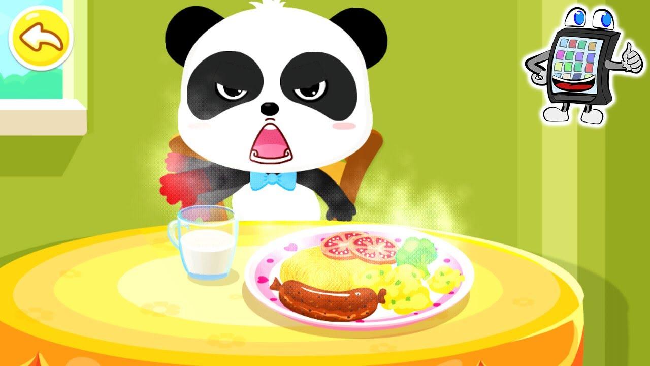 baby panda sicher zuhause app deutsch kleiner b r verbrennt sich am essen spiel mit mir. Black Bedroom Furniture Sets. Home Design Ideas