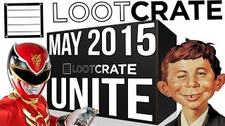 Loot Crate May 2015 - UNITE - Power Rangers, MAD Magazine, Avengers & More! - Loot Crate Unboxing